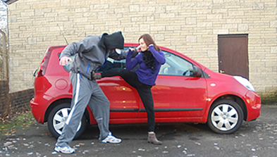 self defense outside car