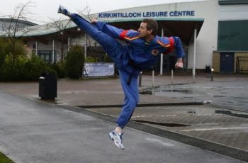 Kirkintilloch Instructor Eddie Smith outside the Kirkintilloch Leisure Centre