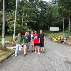 Student embark on their hike up Bukit Larut, formerly known as Maxwell Hill