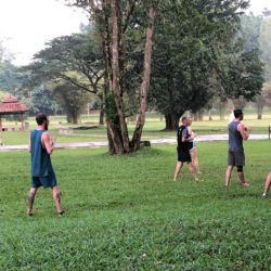 Students training with Grandmaster Teh in the Lake Gardens in Taiping